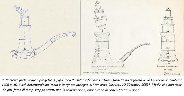 3. Progetto di una pipa per il presidente Pertini