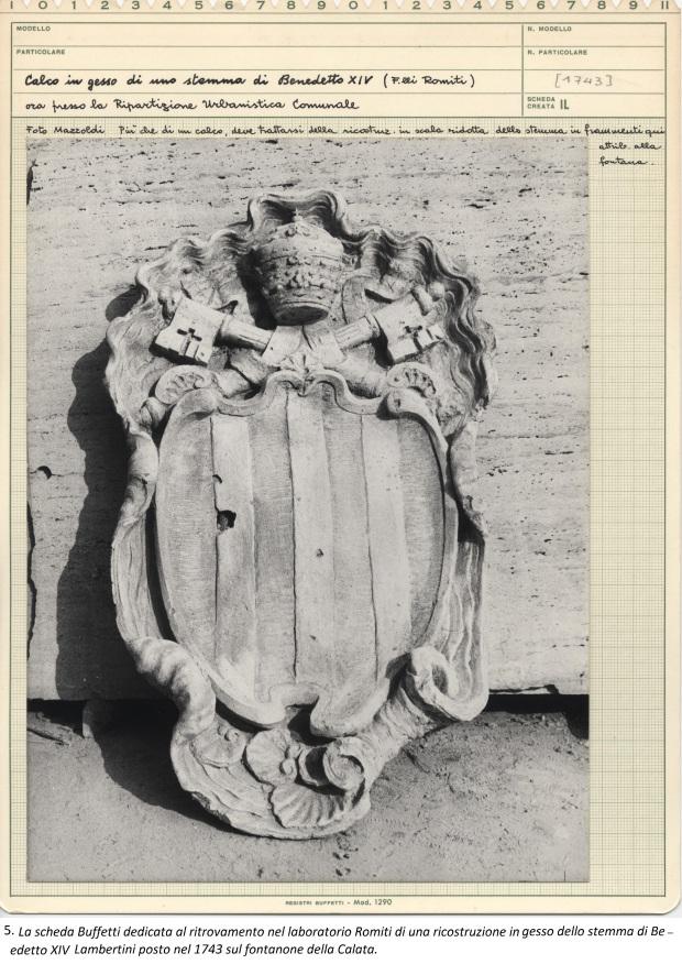 5. gesso di uno stemma di Benedetto XIV