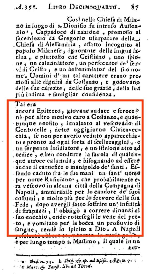 Fig. 4 Notizie Epitetteto II centumcellae