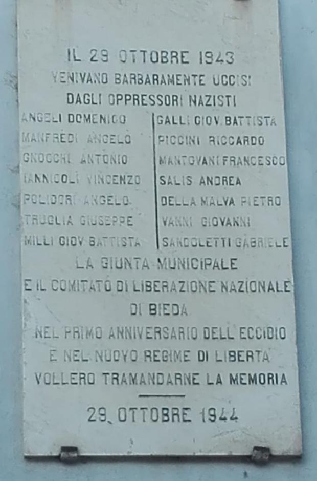 Blera - Uccisi dai Nazisti 29 10 1943