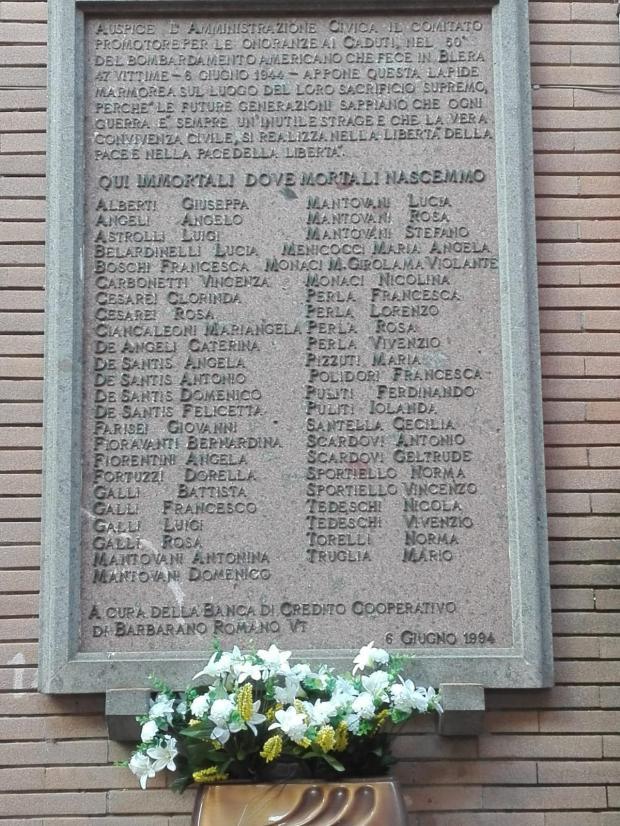 Blera - Morti bombardamento 6 6 1944