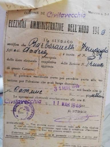 Elezioni Amministrative 1946