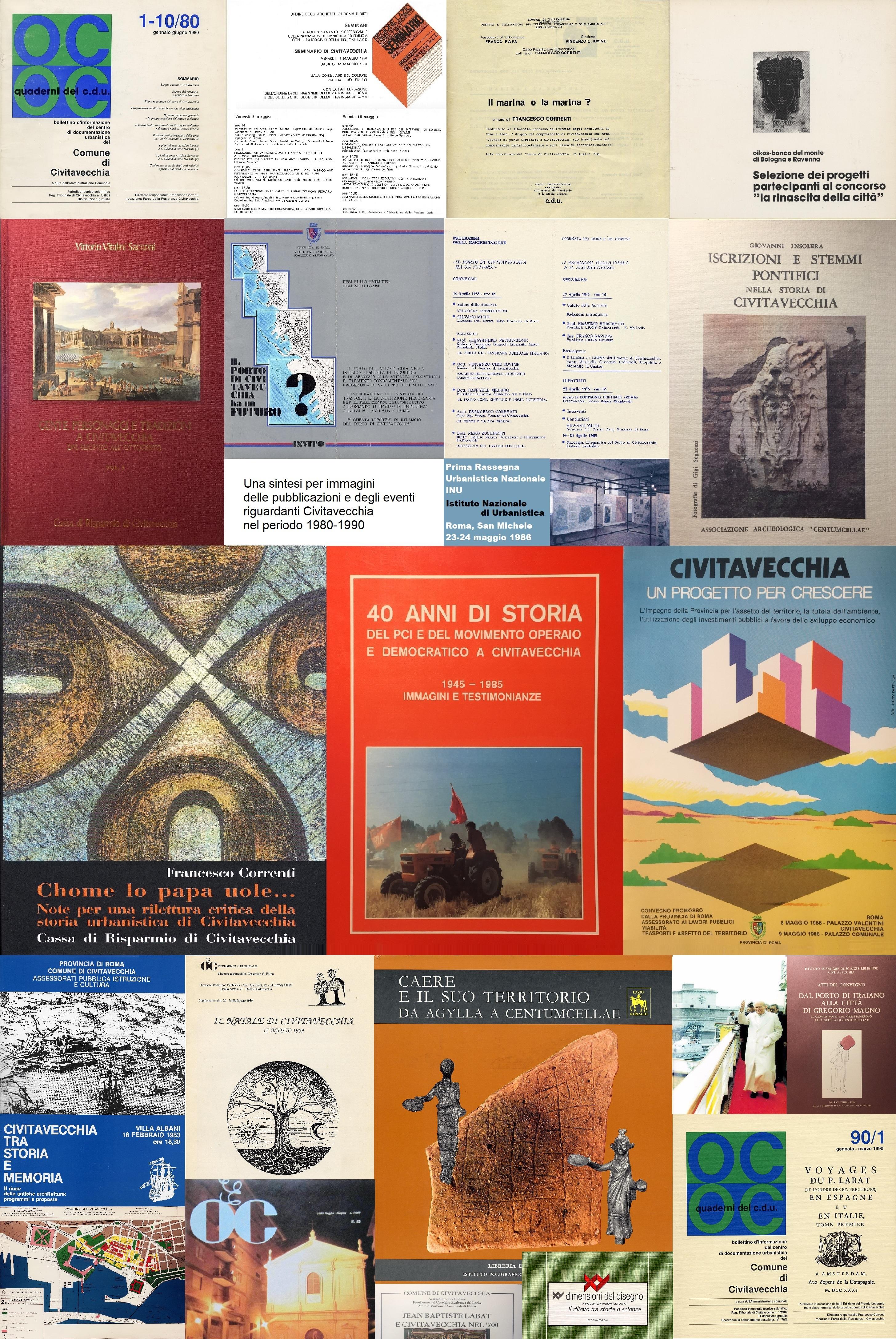1980-1990. Pubblicazioni ed eventi prima parte